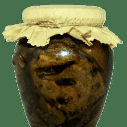 foto gegrilde aubergines